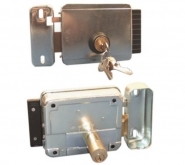 serrure electrique 12 v pene gauche pour portail battant ou portillon autom co. Black Bedroom Furniture Sets. Home Design Ideas