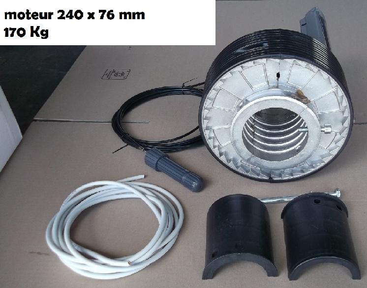 MOTEUR CENTRAL 240 mm POUR RIDEAU METALLIQUE 170 Kg - Autom-éco